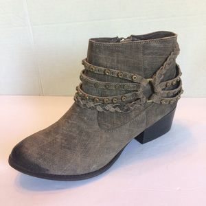 New Naughty Monkey Distressed Leather Ankle Boots